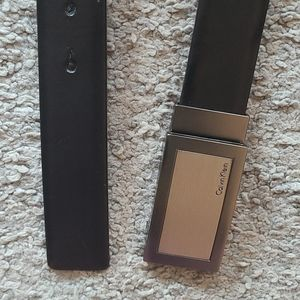Calvin Klein Leather Belt with metal buckle